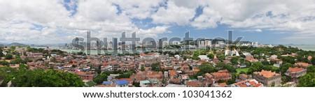 the scenery of gulangyu island - stock photo