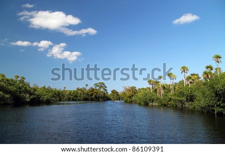 The Scenic Loxahatchee River in South Florida - stock photo