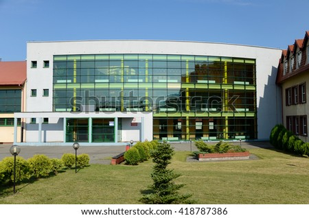 The school building (in Sosnicowice, Poland)
