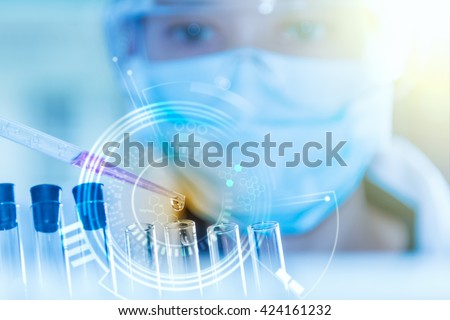 The scientist test or research for decorate or design science concept. - stock photo