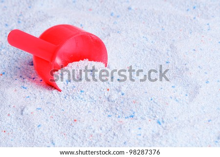 the scoop for washing powder - stock photo