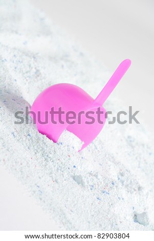 the scoop on background of washing powder - stock photo