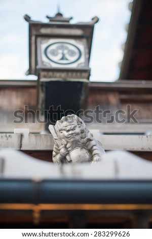 The sculpture in shrine, Japan - stock photo