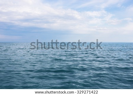 The sea and the sky - stock photo