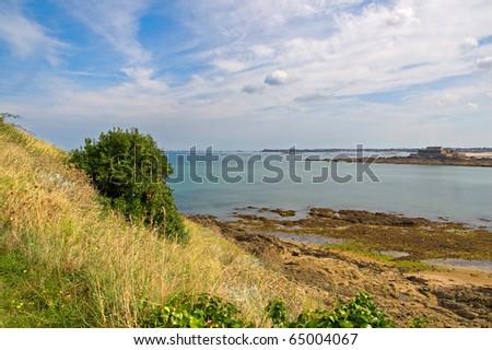 The sea near Saint Malo in Brittany, France - stock photo