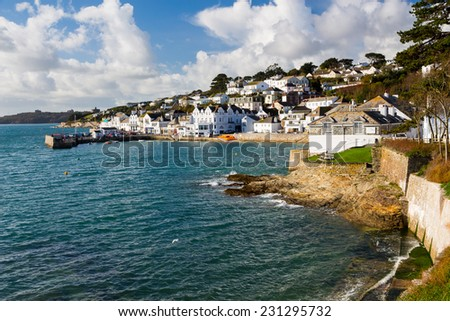The seafront at St Mawes Cornwall England UK Europe - stock photo