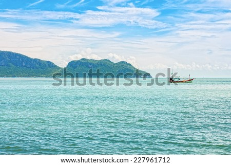 The seascape view of Ao Manao bay at Prachuap Khiri Khan province in Southern Thailand