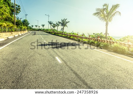 The seaside highway  - stock photo