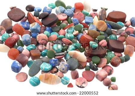 The Semiprecious stones  background - stock photo