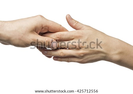 the separation of male and female hands