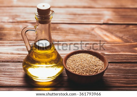 The Sesame oil - stock photo