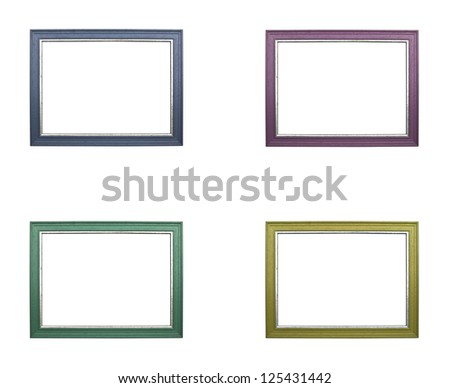 the set of colorful frames isolated on white background - stock photo