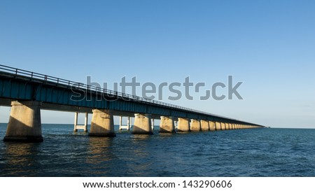 The Seven Mile Bridge is a famous bridge in the Florida Keys.