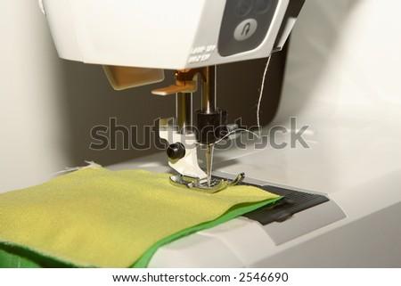 The sewing machine - stock photo