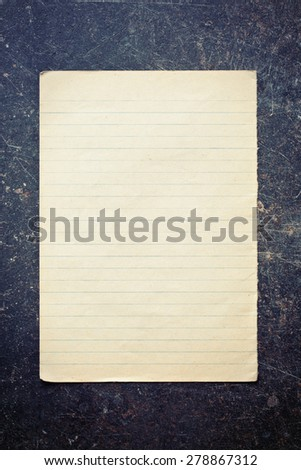 the sheet of old paper  - stock photo