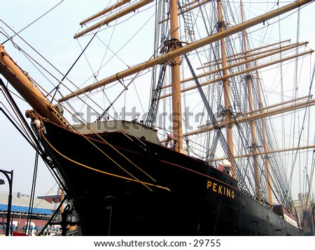 "The ship ""Peking"" at the South Street Seaport in NYC. - stock photo"