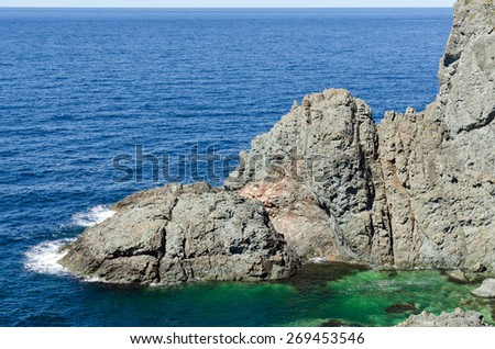 The shore of Newfoundland, Canada in sunny day - stock photo