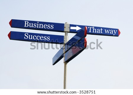 The sign to business success - stock photo