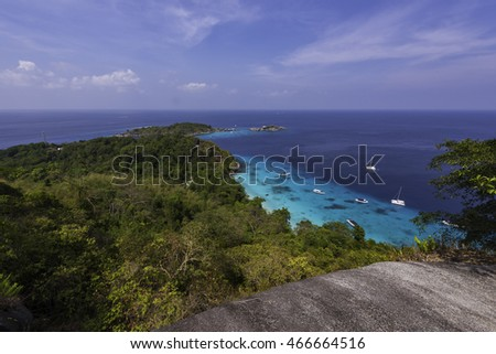 The Similan Islands National Park in Thailand