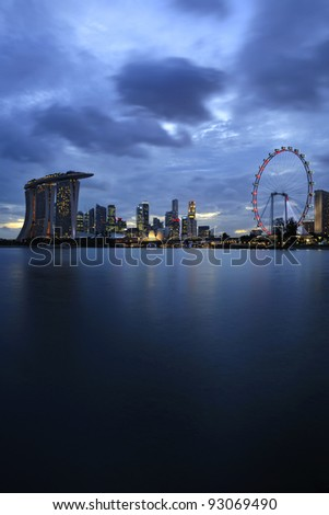 The Singapore skyline - stock photo