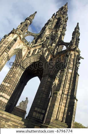 The Sir Walter Scott Monument, Edinburgh, Scotland - stock photo