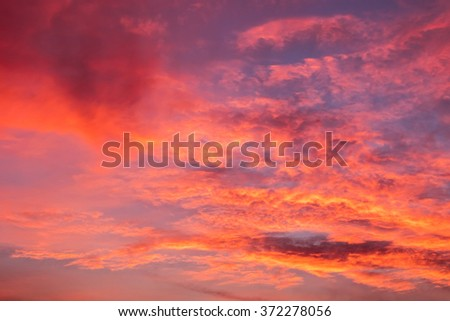 The sky in the relief day and night with sunlight - stock photo