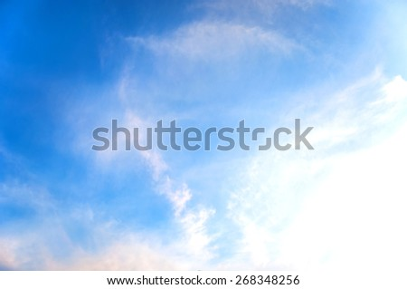 The sky is clearing up. - stock photo
