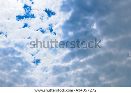 the sky, the texture of the clouds before the rain - stock photo