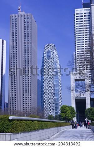 The Skyscraper In Shinjuku - stock photo