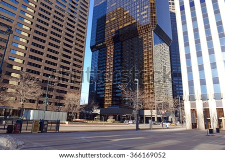 The Skyscrapers of Downtown Denver, Colorado - stock photo