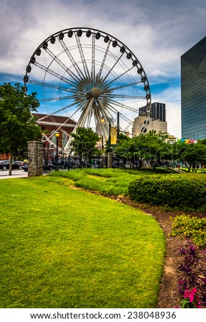 The Skyview in downtown Atlanta, Georgia. - stock photo