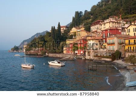 The small fishing village of Varenna, Italy - stock photo