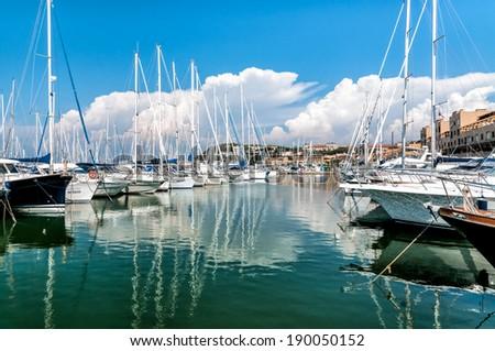 The small harbor of Punta Ala in the Tuscany  - stock photo