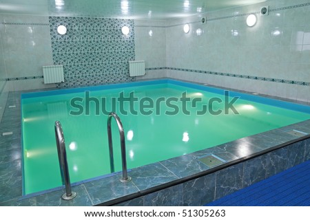 The small pool filled with water - stock photo