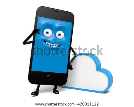 The smartphone can connect to the cloud