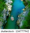 The Soca river, Triglav national park, Slovenia, Europe - stock