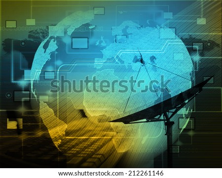 The social network.Internet and  telecommunication concept - stock photo