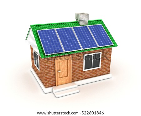 The solar battery on a roof of the private house
