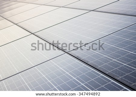The solar energy on the noon time - stock photo