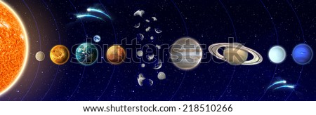The Solar System - Elements of This Image Furnished By NASA - stock photo