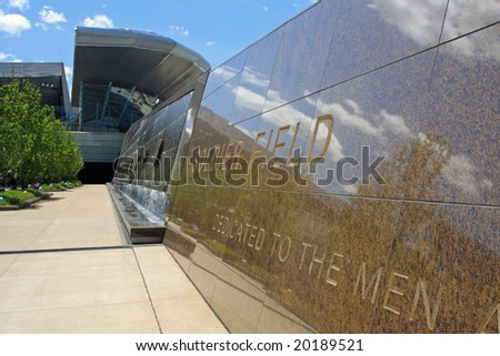 The Soldier Field Stadium in Chicago with both old and new architecture - stock photo