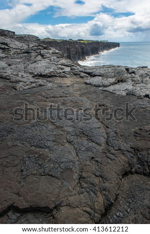 The southernmost point of the Big Island of Hawaii - stock photo