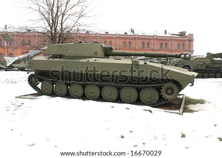 The Soviet and Russian military technics. Russia, St.-Petersburg, March 2008