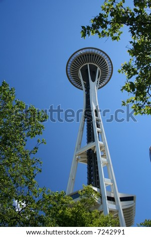 the space needle in seattle - stock photo