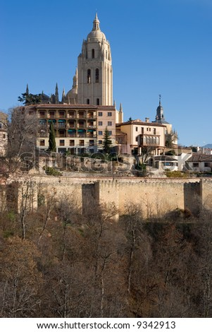 The Spanish town of Segovia