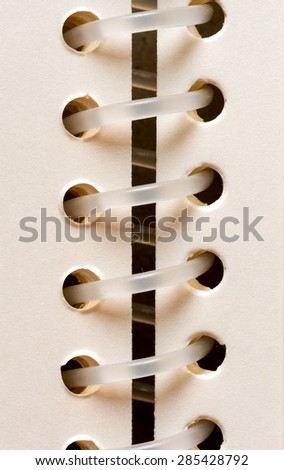The spiral inside the folder, plastic - stock photo