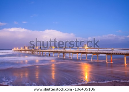 the spit at twilight (gold coast, qld, australia) - stock photo
