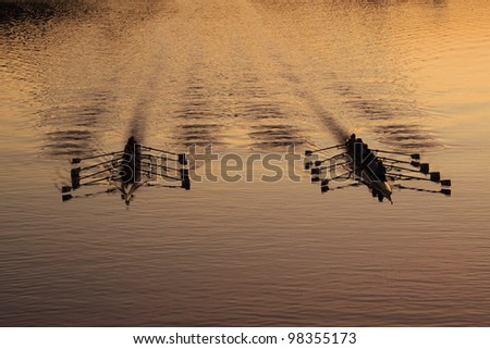 the sport of crewing, - stock photo