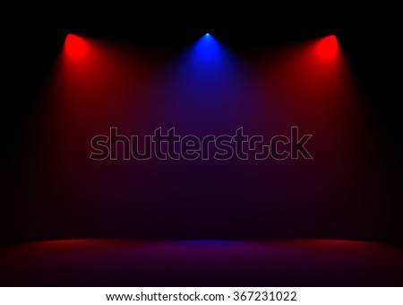 The Spot light abstract gallery theater interior 3d realistic background
