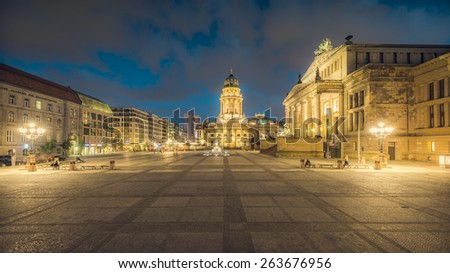 "the square ""Gendarmenmarkt"" in Berlin, Germany - stock photo"